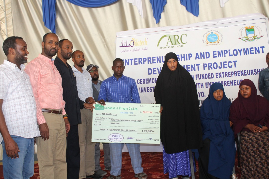 Funded by Silatech, 150 youth entrepreneurs in Kismayo